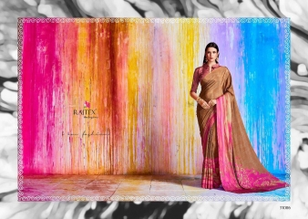 RAJTEX KHALISSI PURE CRAPE PRINT DESIGNER SAREES CATALOGUE WHOLESALE PRICE 31006
