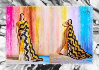 RAJTEX KHALISSI PURE CRAPE PRINT DESIGNER SAREES CATALOGUE WHOLESALE PRICE 31007