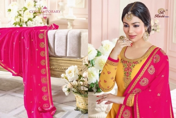 RASHI PRINTS MAHARANI CATALOGUE GEORGETTE HEAVY EMBROIDERED DUPATTA SALWAR KAMEEZ SUPPLIER DEALER WHOLESALE SURAT 2102 B