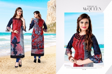 RAVI CREATION SANAYA REYON PRINT KURTI COLLECTION WHOLESALE 1003