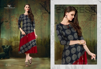 RELOAD VOL 4 BY VICTORRAIN CLOTHING CATALOGUE COTTON CASUAL WEAR KURTI 3012