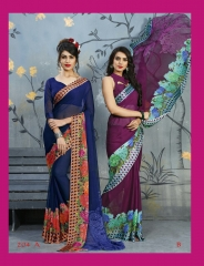 RUCHI SAREES BY RASPBERRY ISSUE 2 CATALOGUE CHIFFON SAREES WHOLESALE PRICE G