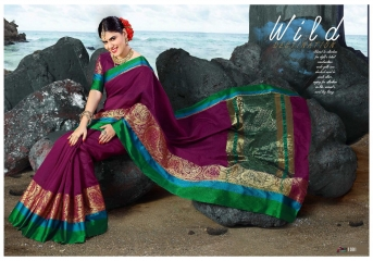 SANGAM PRINTS SILK SARITA FANCY WEAVING SAREES BUY AT WHOLESALE PRICE AT PRATHAM EXPORTS 1001