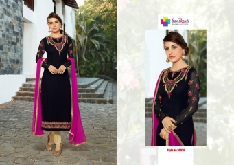 SANSKRUTI SILK SONAKSHI EMBROIDERY SUITS EXPORTER SURAT 30026 A
