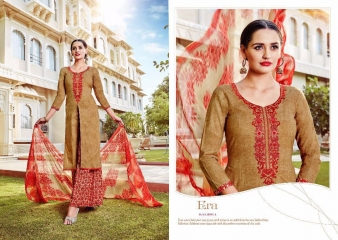 SARGAM PRINT TANYA LAWN COTTON EMBROIDERD SUITS WHOLESALE SURAT 11301 A