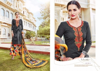 SARGAM PRINT TANYA LAWN COTTON EMBROIDERD SUITS WHOLESALE SURAT 11302 A