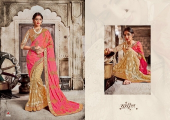 SAROJ GARIMA SILK SAREES WITH EMBROIDERED COLLECTION WHOLESALE SURAT 5006