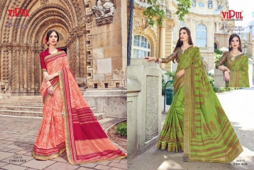 SERIES 34011 BY VIPUL FASHION CHILLI SILK SAREES DIWALI FESTIVAL COLLECTION WHOLESALE SURAT 10