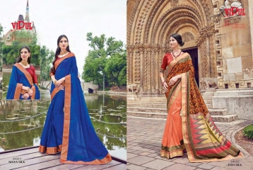 SERIES 34011 BY VIPUL FASHION CHILLI SILK SAREES DIWALI FESTIVAL COLLECTION WHOLESALE SURAT 16