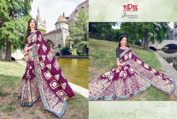 SERIES 34011 BY VIPUL FASHION CHILLI SILK SAREES DIWALI FESTIVAL COLLECTION WHOLESALE SURAT 9