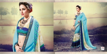 SHRAVIKA LIPSA GEORGETTE PRINTS SAREES CATALOGUE WHOLESALE PRICE 8090