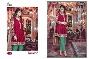 SHREE FAB MBROIDERED MARIYA B COLLECTION WHOLESALER SUPPLIER SURAT GUJARAT 1106
