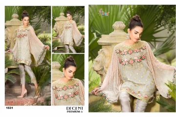 SHREE FABS DECENT PREMIUM 5 PAKISTANI SALWAR KAMEEZ WHOLESALE ONLINE DEALER 1531