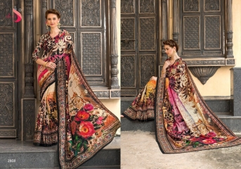 SILK VILLA PANAMA SILK DIGITAL PRINT SAREES WHOLESALE SURAT 2808