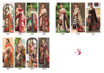 SILK VILLA PANAMA SILK DIGITAL PRINT SAREES WHOLESALE SURAT T