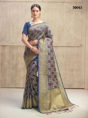 SRINGAR FANCY TRENDY WEAR SAREES FESTIVAL COLLECTION WHOLEASLE SURAT 30041