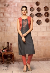 STYLIC SAKHI VOL 1 REYON KURTI COLLECTION WHOLESALE SURAT 12