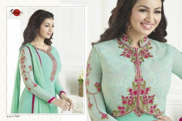 SUHATI FAB SUHATI VOL 7 GEORGETTE EMBROIDERY SUITS WHOLESALE SURAT 17005