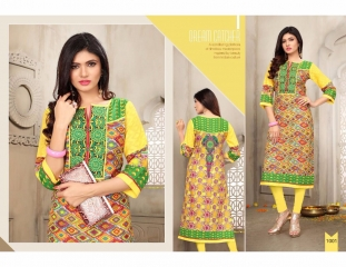 SWARN PRANKH MISS WORLD LAWN COTTON CASUAL WEAR KURTI COLLECTION WHOLESALE 1001
