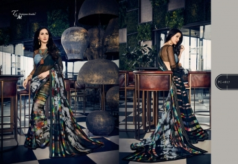T & M PANACHE GEORGETTE DIGITAL PRINTS SAREES WHOLESALER SURAT 4817
