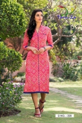 TANUZA FASHION ETHNIC VOL 4 PURE COTTON KURTI CATALOG RATE SURAT 220