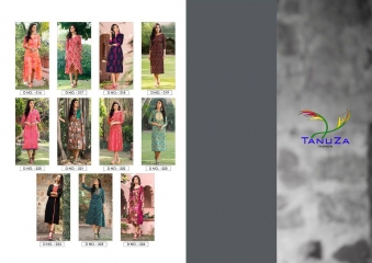 TANUZA FASHION ETHNIC VOL 4 PURE COTTON KURTI CATALOG RATE SURAT T