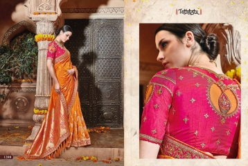 TATHASTU 1201 - 1222 SERIES DESIGNER TRADITIONAL WEAR SAREES 1208