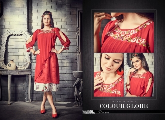 THE DESIGNERS BY MEEM VOL 2 GEORGETTE EMBROIDERED CASUAL WEAR KURTI WHOLESALE SURAT 2002