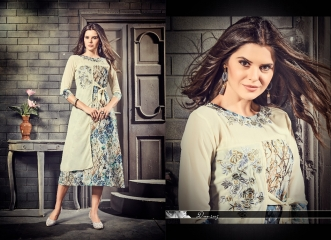 THE DESIGNERS BY MEEM VOL 2 GEORGETTE EMBROIDERED CASUAL WEAR KURTI WHOLESALE SURAT 2005
