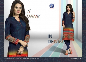 TOP DOT INDIGO RUSH GEORGETTE KURTI WHOLESALE SURAT 113