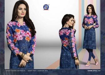 TOP DOT INDIGO RUSH GEORGETTE KURTI WHOLESALE SURAT 114