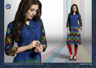 TOP DOT INDIGO RUSH GEORGETTE KURTI WHOLESALE SURAT 115