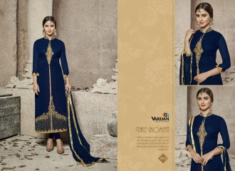 VARDAN DESIGNER NATIN VOL 3 COTTON HEAVY EMBROIDERED SUITS WHOLESALER 9016