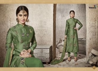VARDAN DESIGNER NATIN VOL 3 COTTON HEAVY EMBROIDERED SUITS WHOLESALER 9017