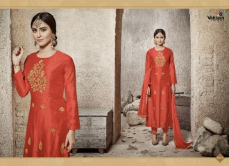 VARDAN DESIGNER NATIN VOL 3 COTTON HEAVY EMBROIDERED SUITS WHOLESALER 9019