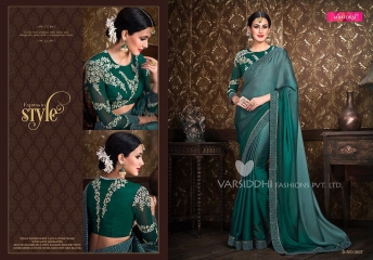 VARSIDDHI FASHION MINTORSI FANCY DESIGNER SAREES WHOLESALER 3607
