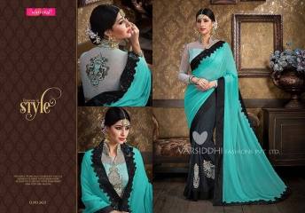VARSIDDHI FASHION MINTORSI FANCY DESIGNER SAREES WHOLESALER 3612