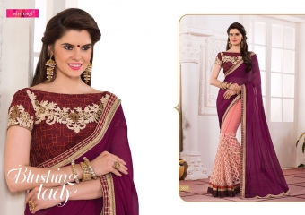 VARSIDDHI MINTORSI SHIMMER DESIGNERS SAREES COLLECTION WHOLESALE SURAT 3657