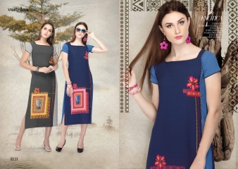 VASTRIKAA GLITZ VOL 4 GEORGETTE BUBBLE FANCY PRINT KURTI WHOLESALE PRICE 1031