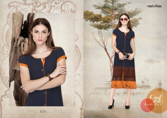 VASTRIKAA GLITZ VOL 4 GEORGETTE BUBBLE FANCY PRINT KURTI WHOLESALE PRICE 1034 A