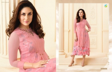 VINAY FASHION BY TUMBAA BEBO CATALOGUE GEORGETTE KURTI WHOLESALER PRICE FROM SURAT 33811