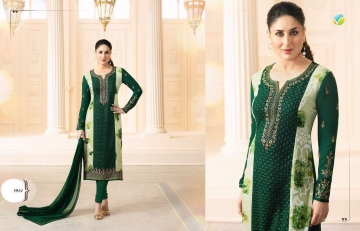 VINAY FASHION KAREENA KASEESH GEORGETTE EMBROIDERY STRAIGHT SALWAR KAMEEZ WHOLESALE SURAT 5914