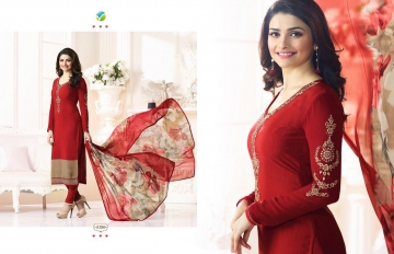 VINAY FASHION LLP SILKEENA NX CRAPE SUITS WHOLESALE DEALER SURAT 5380