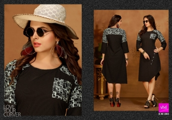 VINI FASHION GRAVITY SILK KURTI WHOLESALE SURAT DEALER 1003