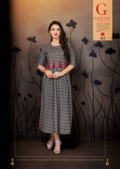 VINK ENVY COTTON DIGITAL PRINTS KURTI WHOLESALE SURAT 202 A