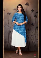 VINK ENVY COTTON DIGITAL PRINTS KURTI WHOLESALE SURAT 206