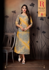 VINK ENVY COTTON DIGITAL PRINTS KURTI WHOLESALE SURAT 208 A