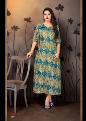 VINK ENVY COTTON DIGITAL PRINTS KURTI WHOLESALE SURAT 209 A
