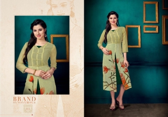 VINK FLAUNT VOL 2 DESIGNER KURTI COLLECTION CATALOG WHOLESALER SURAT 215