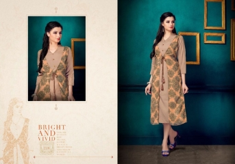 VINK FLAUNT VOL 2 DESIGNER KURTI COLLECTION CATALOG WHOLESALER SURAT 218